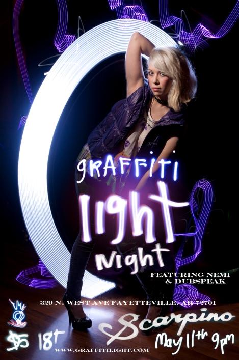 Graffiti Light Night at Scarpino's