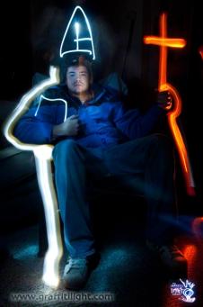 Brad - Pope and Demon Light Painting Portrait Animation still