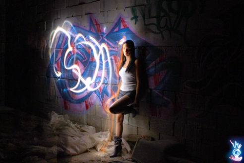 GRAFFITI LIGHT PROJECT PORTRAIT - BRITTNEY