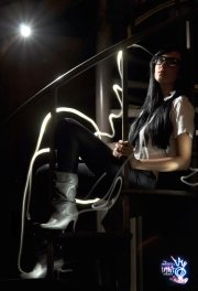 GRAFFITI LIGHT PROJECT PORTRAIT - BRITTNEY JORDAN