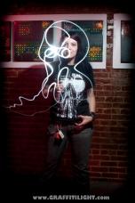 """Light Painting Fan Portrait - """"Skeletonwitch"""""""