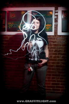 "Light Painting Fan Portrait - ""Skeletonwitch"""