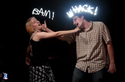 Bam! Whack! - Graffiti Light Night at Scarpino's