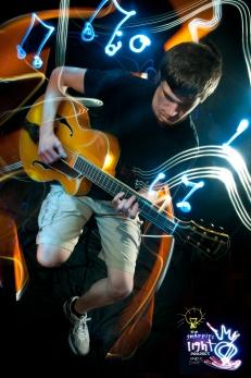 Ethan Musician Light Painting Portrait