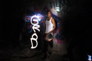 GRAFFITI LIGHT PROJECT PORTRAIT - GERROD