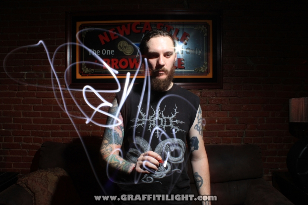 """Light Painting Autograph Portraits - """"Skeletonwitch"""""""