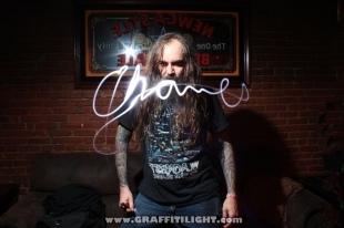 "Light Painting Autograph Portraits - ""Skeletonwitch"""