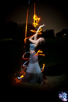 GRAFFITI LIGHT PROJECT PORTRAIT - ISEULLE