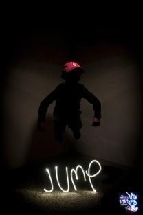 JUMP - Light Painting Portrait