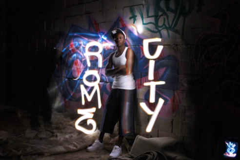 ROME CITY - Light Painting Portrait