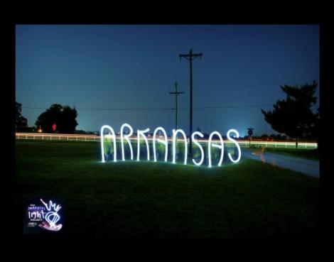"""Arkansas"" Light Painting - The Graffiti Light Project"