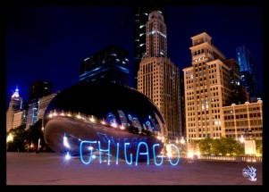 """CHICAGO"" Light Painting - The Graffiti Light Project"