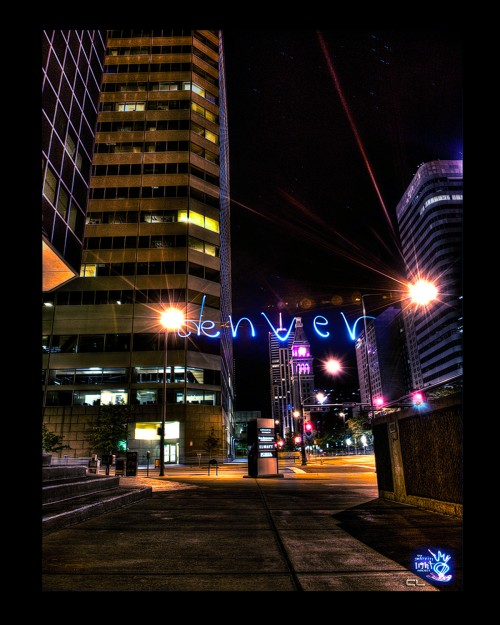Light Painting the streets of Denver, CO