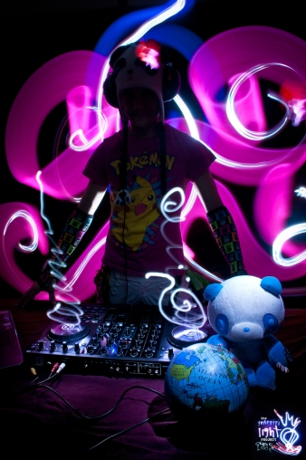 DJ NEMI Light Painting Portrait
