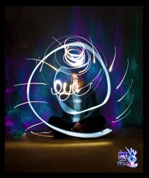 Graffiti Light Project: Exhibition Gallery Self Portrait